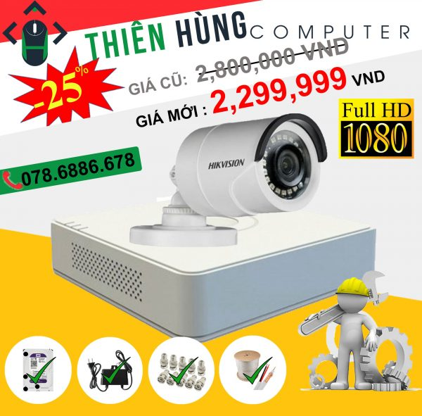 BỘ 1 CAMERA HIKVISION 2.0MP