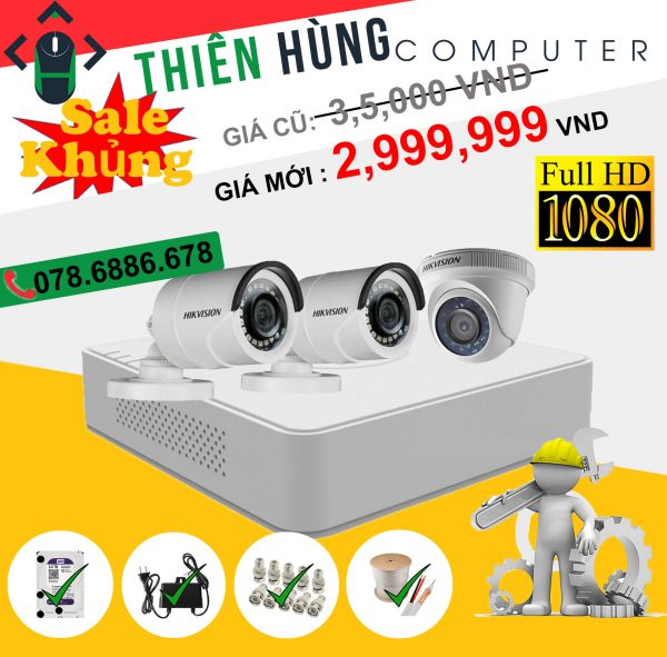 BỘ 3 CAMERA HIKVISION 2.0MP