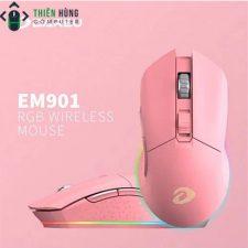 CHUỘT DAREU EM901 RGB PINK (Wireless)